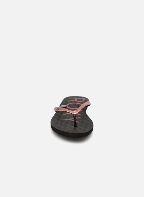 Flip flops & klipklapper Roxy Viva Glitter Sort se skoene på