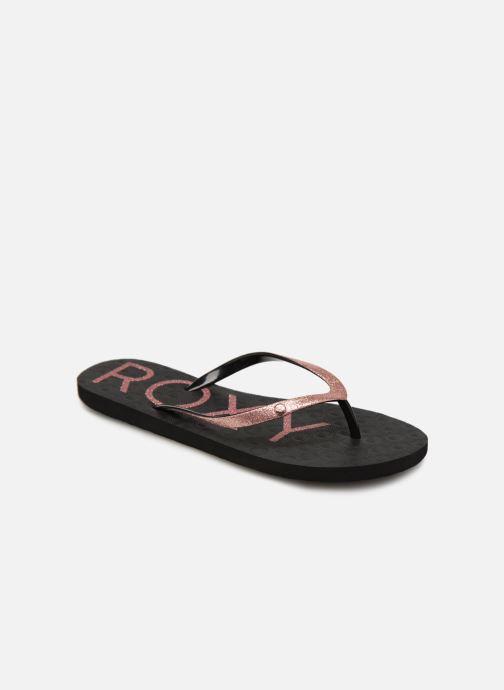 Flip flops & klipklapper Roxy Viva Glitter Sort detaljeret billede af skoene