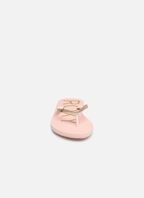 Tongs Roxy Viva Glitter Rose vue portées chaussures