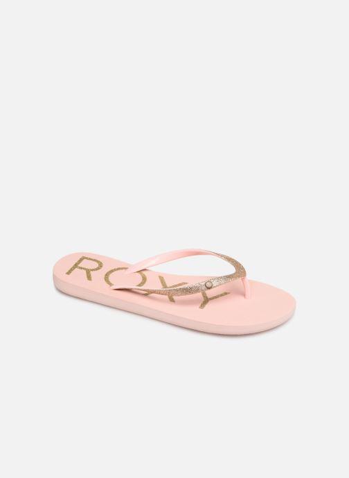Tongs Roxy Viva Glitter Rose vue détail/paire