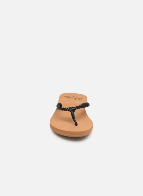 Tongs Roxy Costa Noir vue portées chaussures
