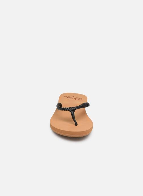 Zehensandalen Roxy Costa schwarz schuhe getragen
