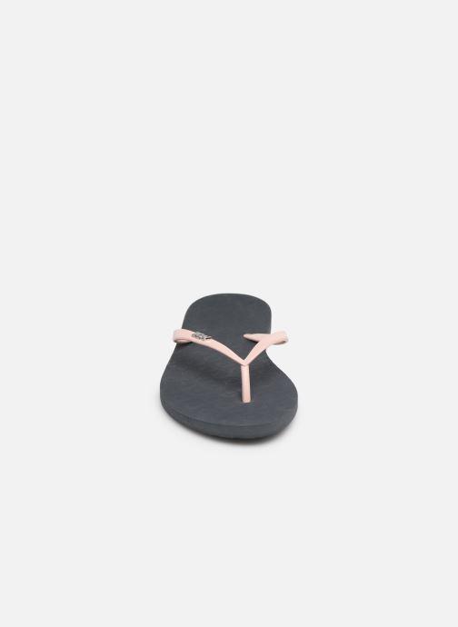 Tongs Roxy Viva Tone Gris vue portées chaussures