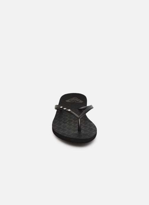 Flip flops & klipklapper Roxy Viva Glitz II Sort se skoene på