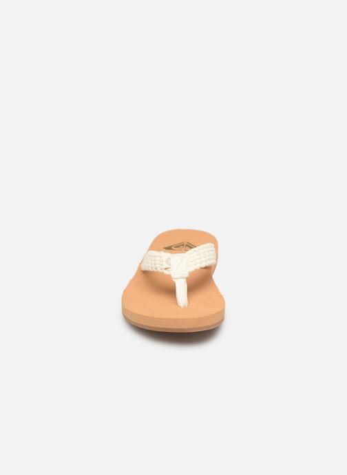 Tongs Roxy Porto II Blanc vue portées chaussures