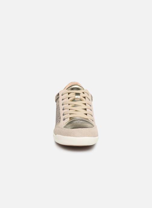 Sneaker Damart Arlette beige schuhe getragen