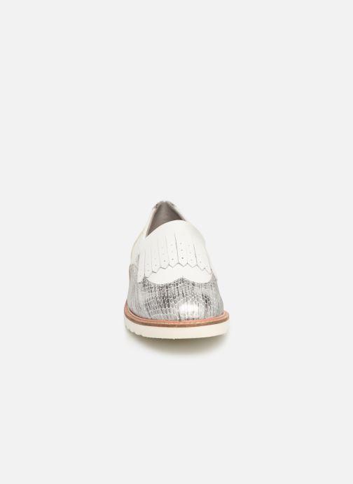 Mocassins Damart Axelle Blanc vue portées chaussures