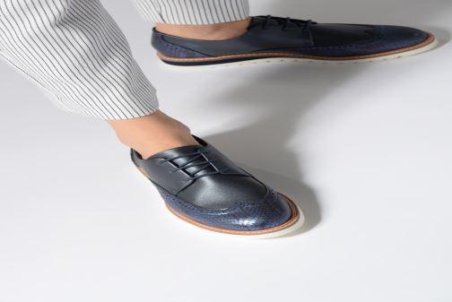 Chaussures à lacets Damart Amelia Blanc vue bas / vue portée sac