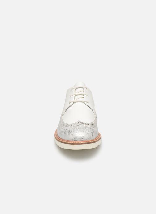Chaussures à lacets Damart Amelia Blanc vue portées chaussures
