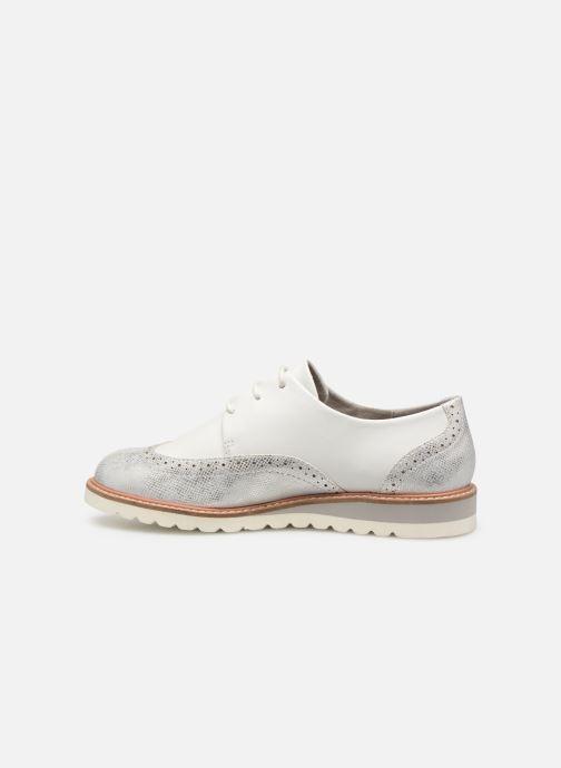 Chaussures à lacets Damart Amelia Blanc vue face