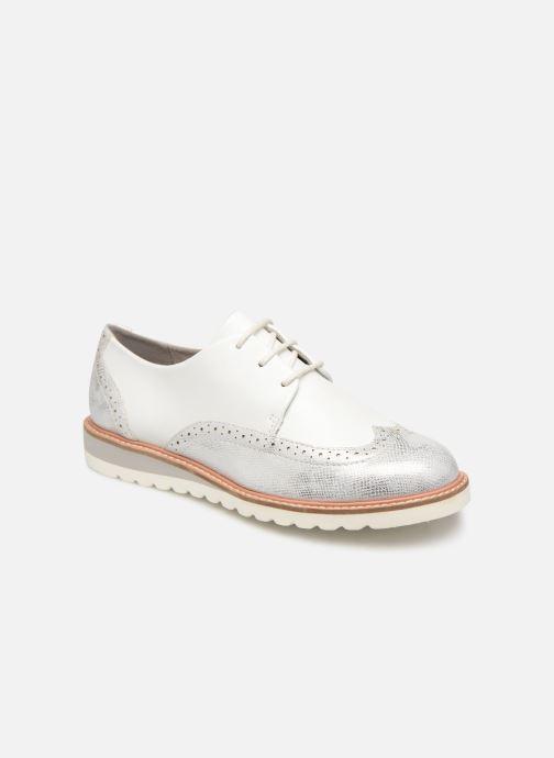 Chaussures à lacets Damart Amelia Blanc vue détail/paire
