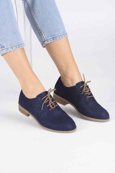 Chaussures à lacets Damart Albane Bleu vue bas / vue portée sac