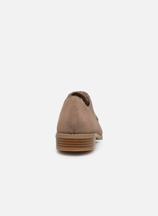 Zapatos con cordones Damart Albane Marrón vista lateral derecha