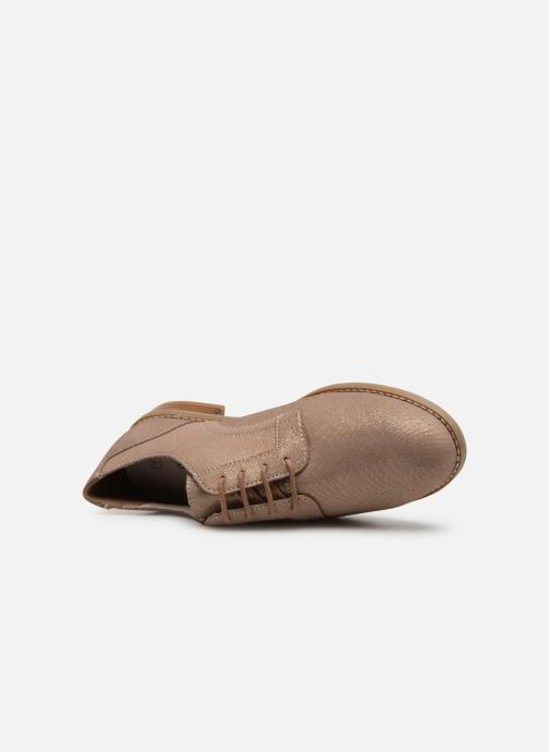 Zapatos con cordones Damart Albane Marrón vista lateral izquierda