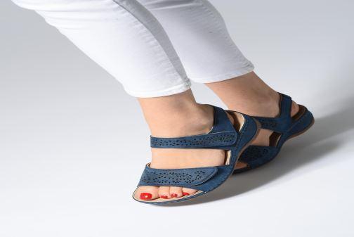 Sandales et nu-pieds Damart Abbie Blanc vue bas / vue portée sac