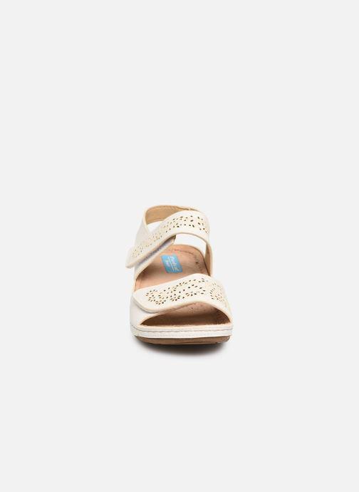 Sandales et nu-pieds Damart Abbie Blanc vue portées chaussures