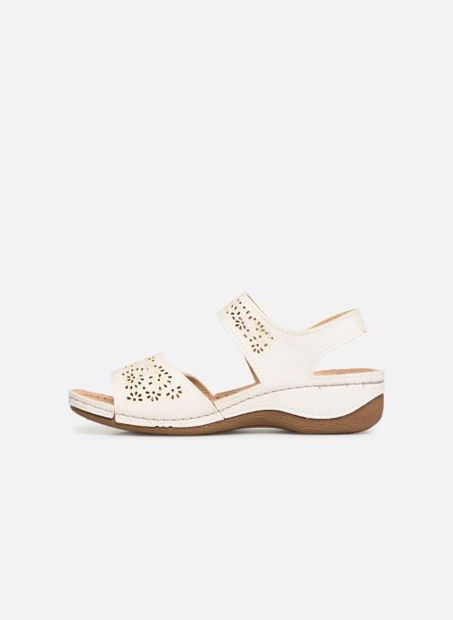 Sandales et nu-pieds Damart Abbie Blanc vue face