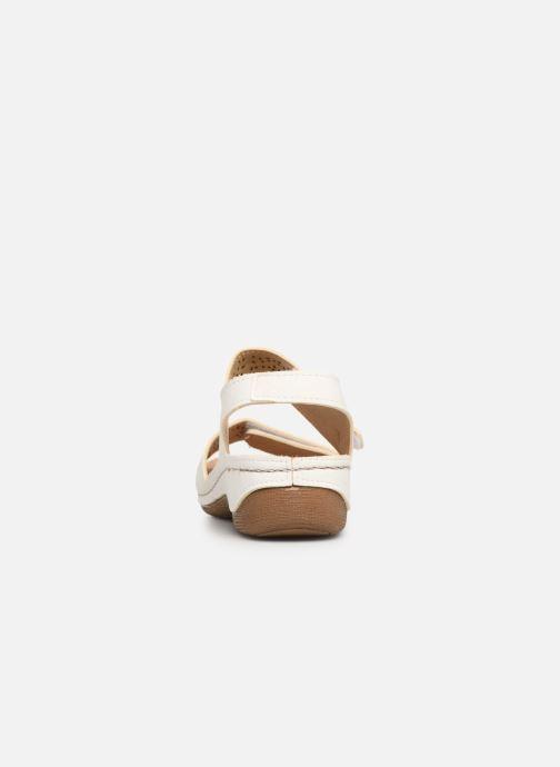 Sandales et nu-pieds Damart Abbie Blanc vue droite