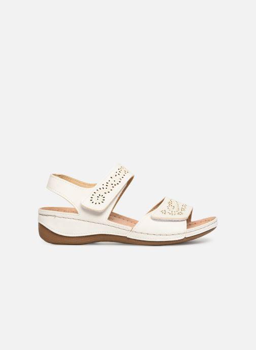 Sandales et nu-pieds Damart Abbie Blanc vue derrière