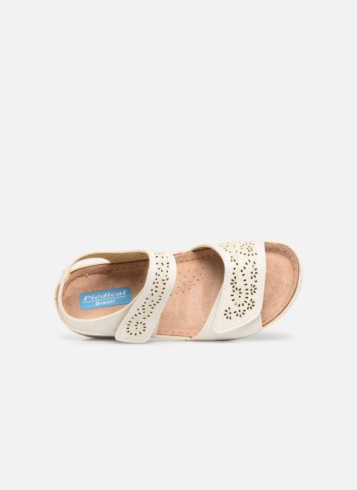 Sandales et nu-pieds Damart Abbie Blanc vue gauche
