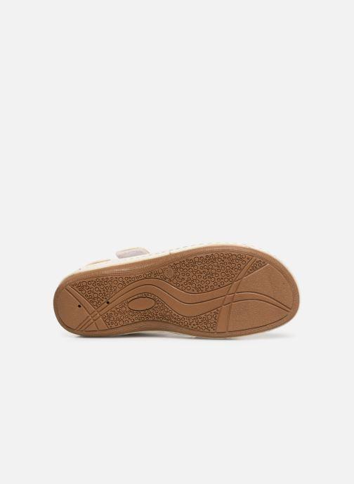 Sandales et nu-pieds Damart Abbie Blanc vue haut