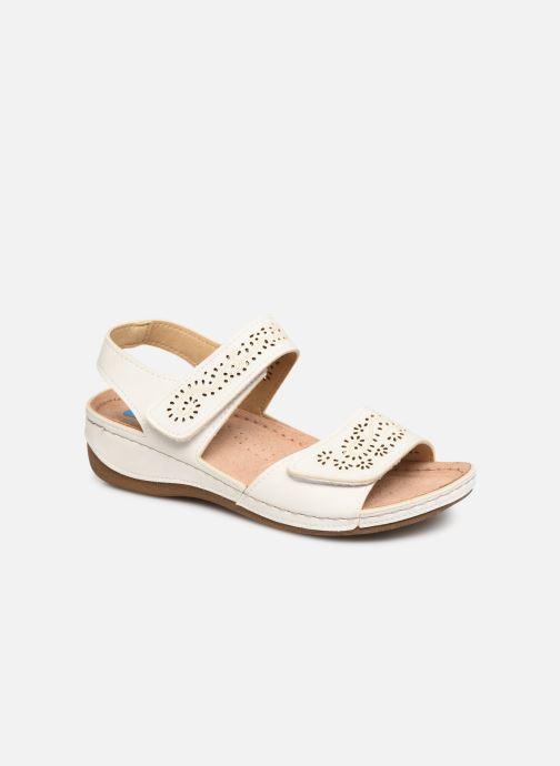 Sandales et nu-pieds Damart Abbie Blanc vue détail/paire