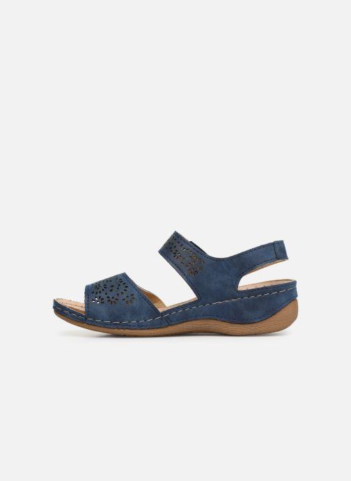 Sandalias Damart Abbie Azul vista de frente