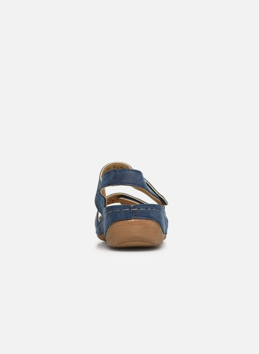 Sandalias Damart Abbie Azul vista lateral derecha