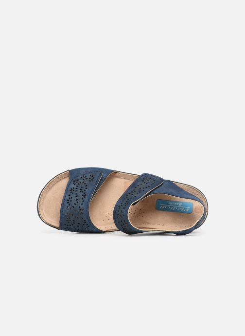 Sandalias Damart Abbie Azul vista lateral izquierda