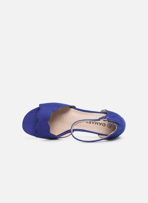 Sandalen Damart Alexia Blauw links