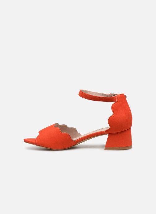 Sandalen Damart Alexia rot ansicht von vorne