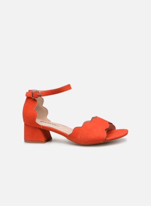 Sandalen Damart Alexia rot ansicht von hinten
