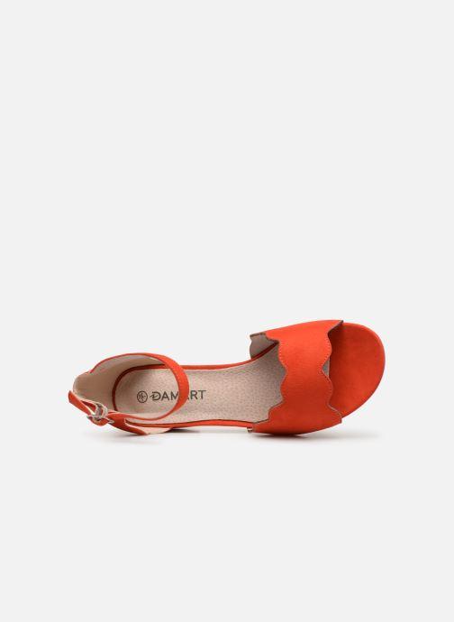 Sandalen Damart Alexia rot ansicht von links