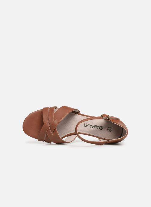 Sandalen Damart Angela Bruin links
