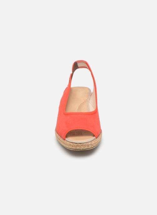 Espadrilles Damart Aurele Rouge vue portées chaussures