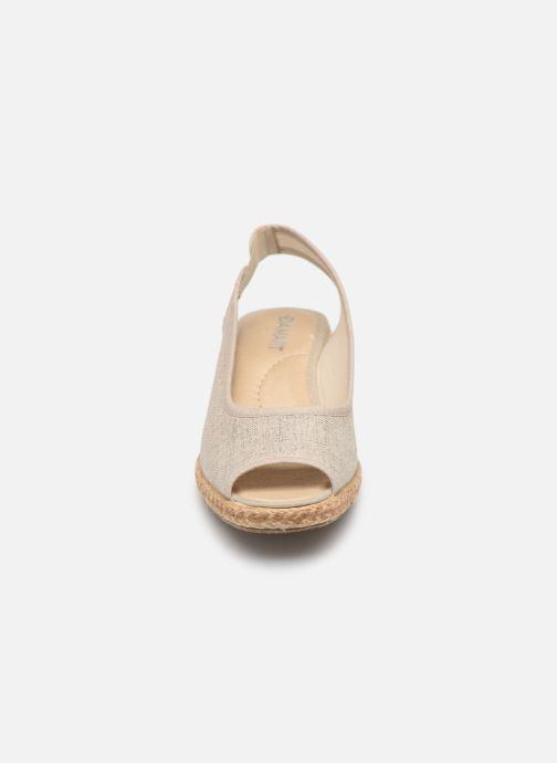Espadrilles Damart Aurele Beige vue portées chaussures