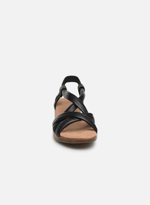 Sandales et nu-pieds Damart Anita Noir vue portées chaussures