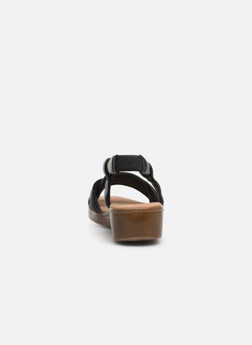 Sandales et nu-pieds Damart Anita Noir vue droite