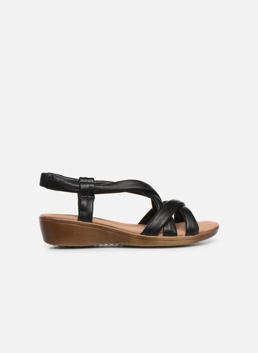Sandales et nu-pieds Damart Anita Noir vue derrière