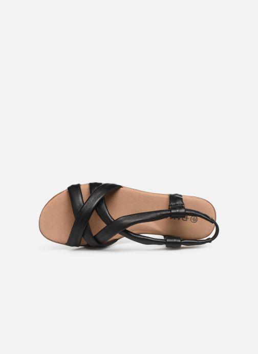 Sandales et nu-pieds Damart Anita Noir vue gauche