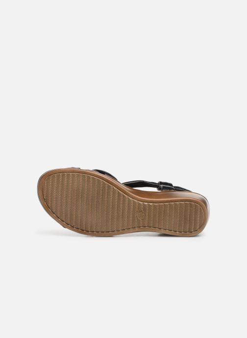 Sandales et nu-pieds Damart Anita Noir vue haut