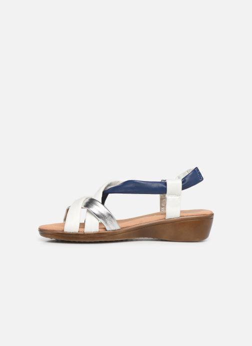 Sandali e scarpe aperte Damart Anita Bianco immagine frontale