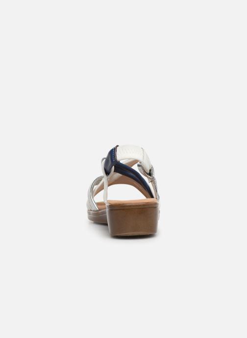 Sandales et nu-pieds Damart Anita Blanc vue droite