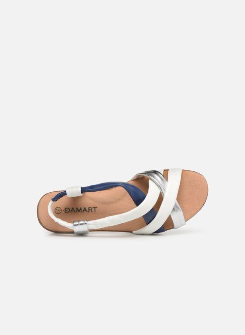 Sandali e scarpe aperte Damart Anita Bianco immagine sinistra