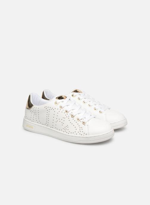 Guess, CARTERR2 White Baskets Mode BlancOr pour Les Femmes