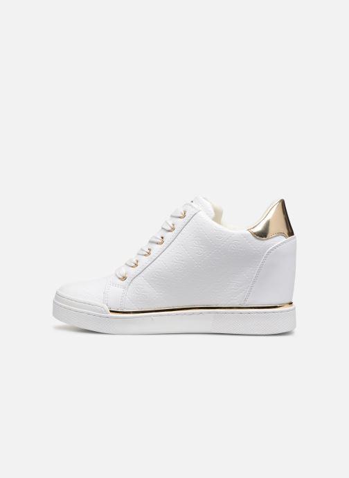 Sneaker Guess FLOWURS weiß ansicht von vorne