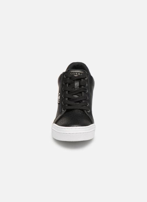 Sneaker Guess FLOWURS schwarz schuhe getragen