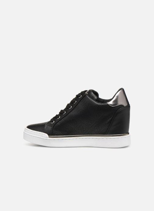 Sneaker Guess FLOWURS schwarz ansicht von vorne