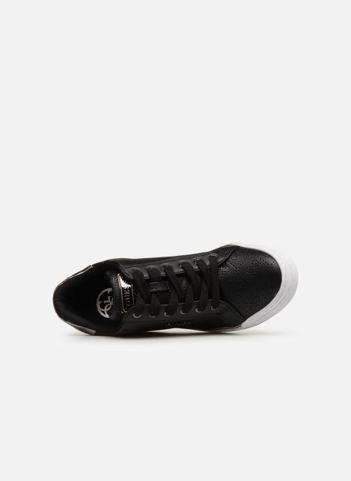 Sneaker Guess FLOWURS schwarz ansicht von links