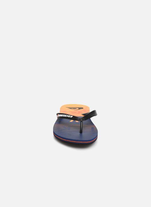 Tongs Quiksilver MOLOKAI WORDBLOCK VOLLEY Orange vue portées chaussures
